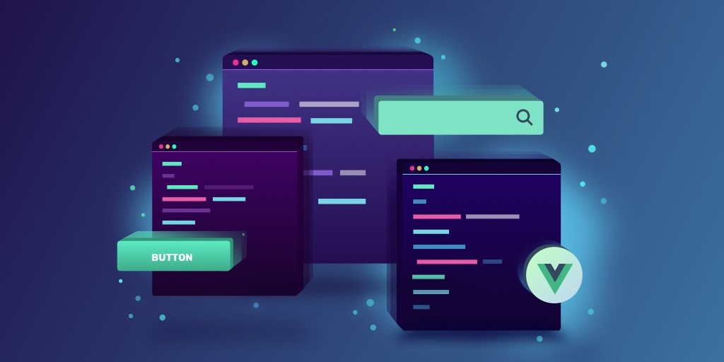 Illustration image of our Vue.js course named Single File Components