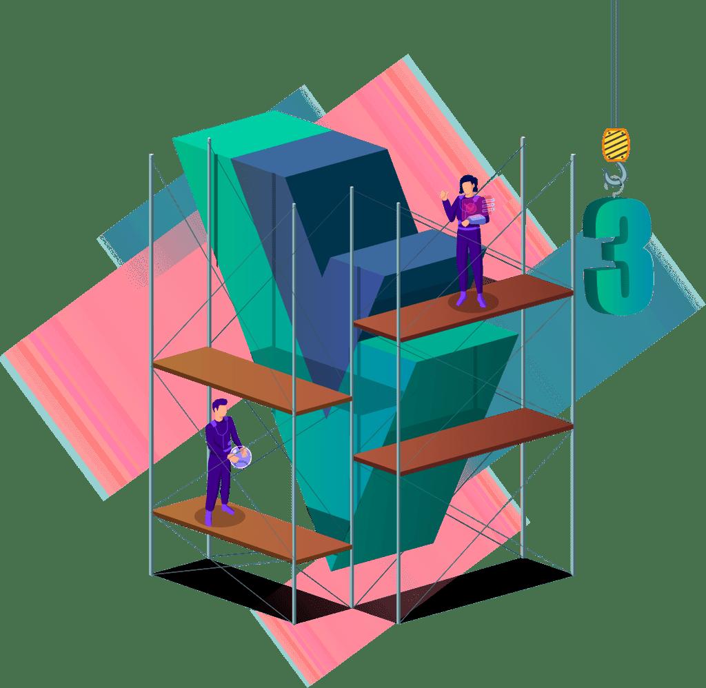 Illustration image of Vue.js 3 Components Fundamentals