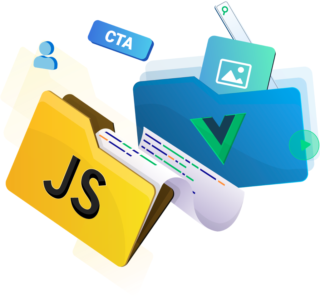 Illustration image of Vue 3 Single File Components